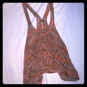 Free People Crochet Knit Tank Top